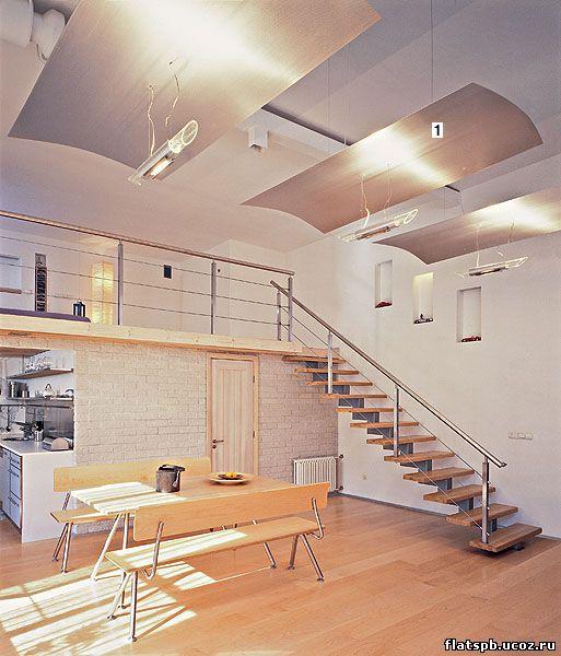 Фото дизайн антресоль в квартире студии
